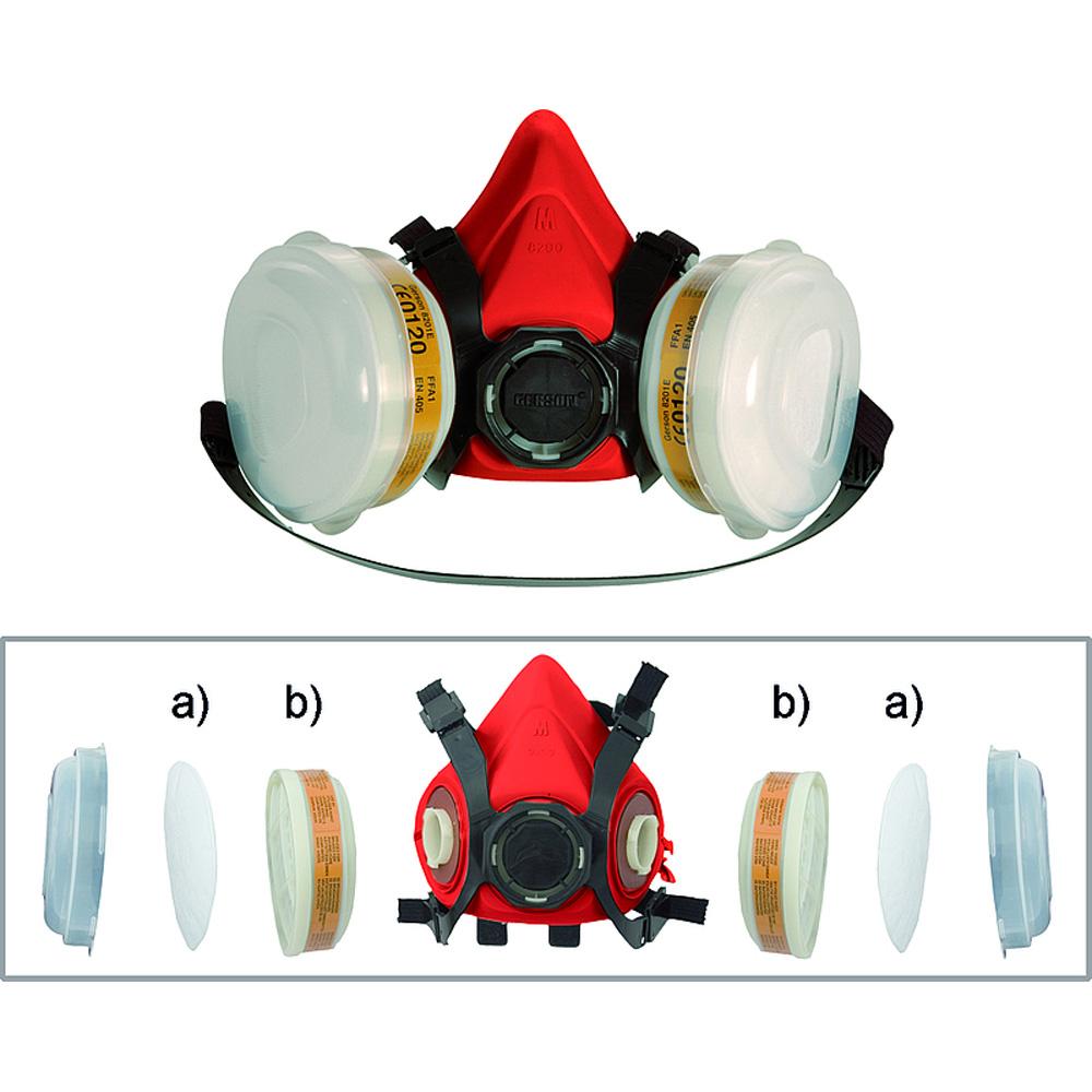 atemschutzmaske lackiermaske ffa2 p2 r autolack und. Black Bedroom Furniture Sets. Home Design Ideas
