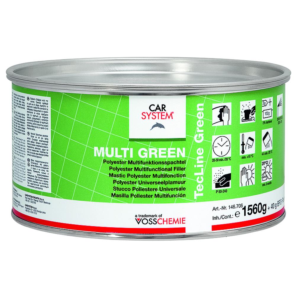 multi green spachtel dose inkl h rter 1 6kg autolack. Black Bedroom Furniture Sets. Home Design Ideas