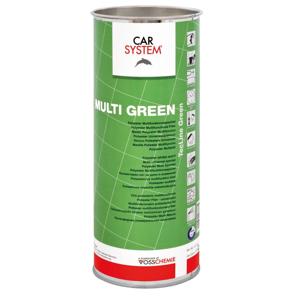 multi green spachtel kartusche inkl h rter autolack und. Black Bedroom Furniture Sets. Home Design Ideas