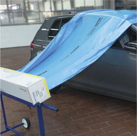 abdeckfolie wondermask aquafit blau 4 m x 300 m autolack. Black Bedroom Furniture Sets. Home Design Ideas